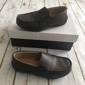 NORDSTROM Kids Chocolate Faux Leather Loafers 12